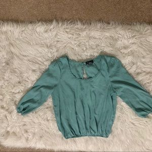 Cotton Express Mint Green Open Back Top Small